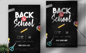 Back To School Party 2020 Free Flyer Template (PSD)