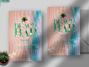 Beach Bar Party Free PSD Flyer Template
