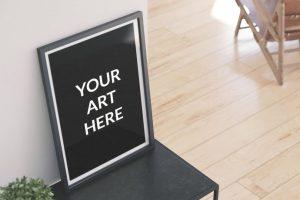 Big Poster Frame Free Mockup