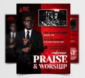 Church Event Free Flyer Template (PSD)