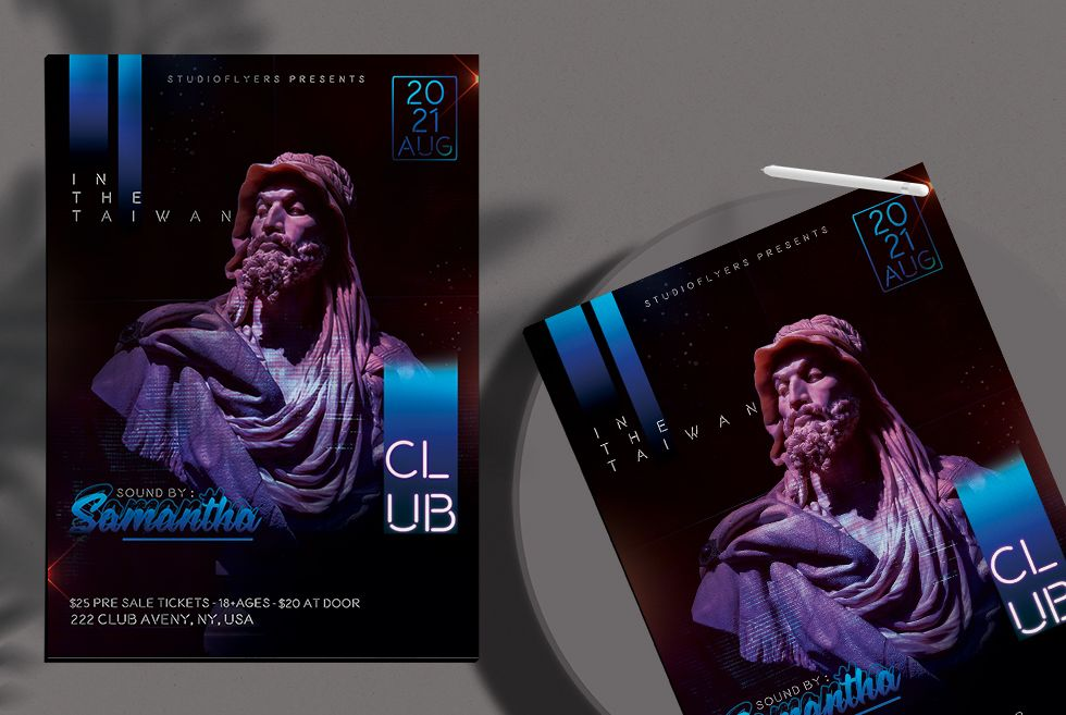 Club Party DJ Free PSD Flyer Template