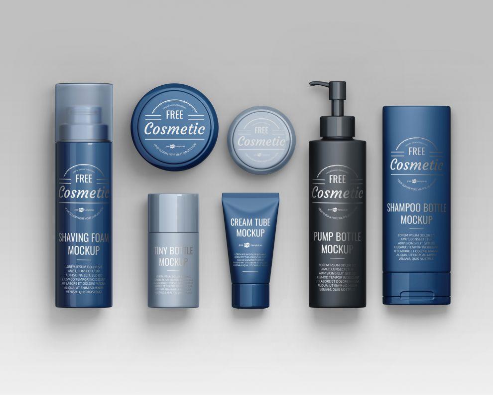 Cosmetic Brand Scene Creator Free Mockup