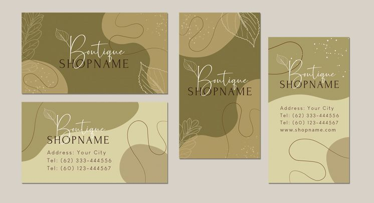 Elegant Boutique Business Card Free Template (PSD)