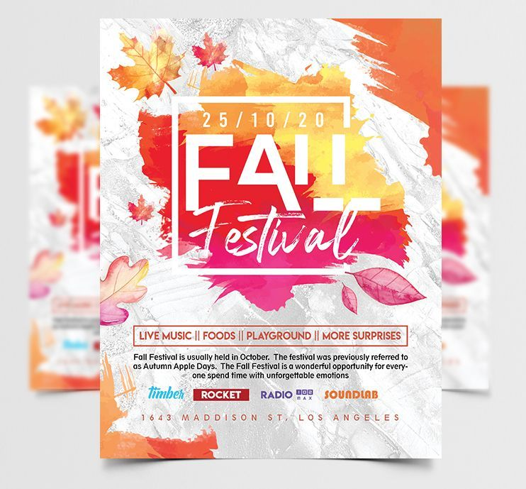 Fall Festival 2020 Free Flyer Template (PSD)