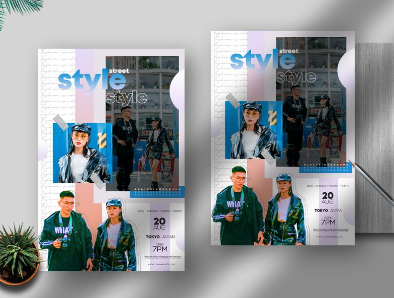 Fashion Style Sale Free Flyer Template (PSD)
