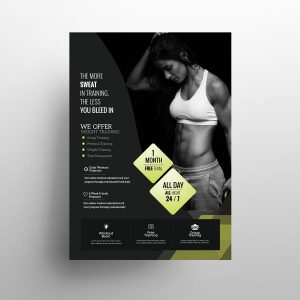 Fatburn Fitness Free Flyer Template (PSD)