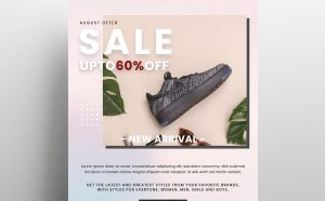 Flash Sale Shoes Free Flyer Template (PSD)