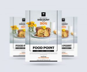 Food Restaurant Ad Free Flyer Template (PSD)