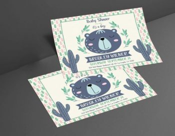 Free Baby Shower Flyer / Invitation Template (PSD)