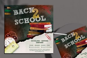 Free Back to School Party Flyer Template vol2 (PSD)