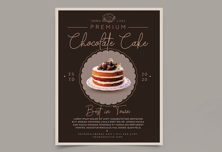 Free Cake Flyer Template (PSD)
