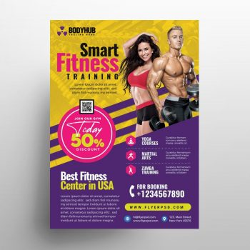 Free Fitness Gym Promotion Flyer Template (PSD)