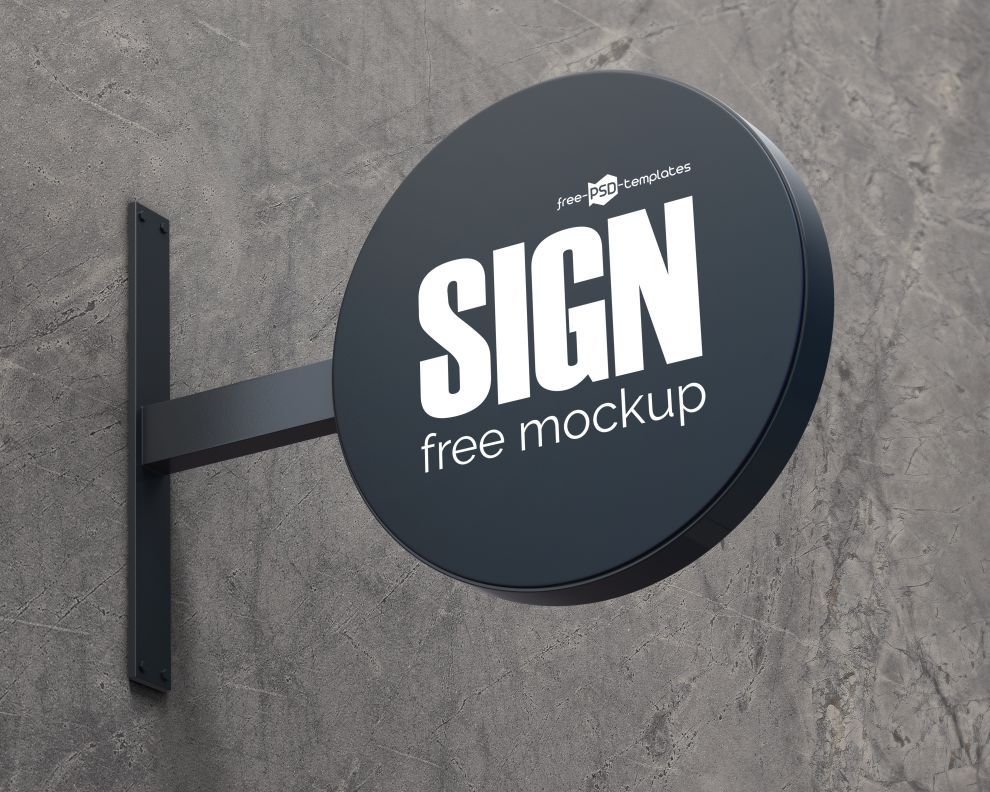 Free Realistic Sign Ad Mockup