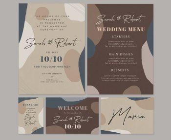 Free Wedding Invitation Flyer & Card Templates