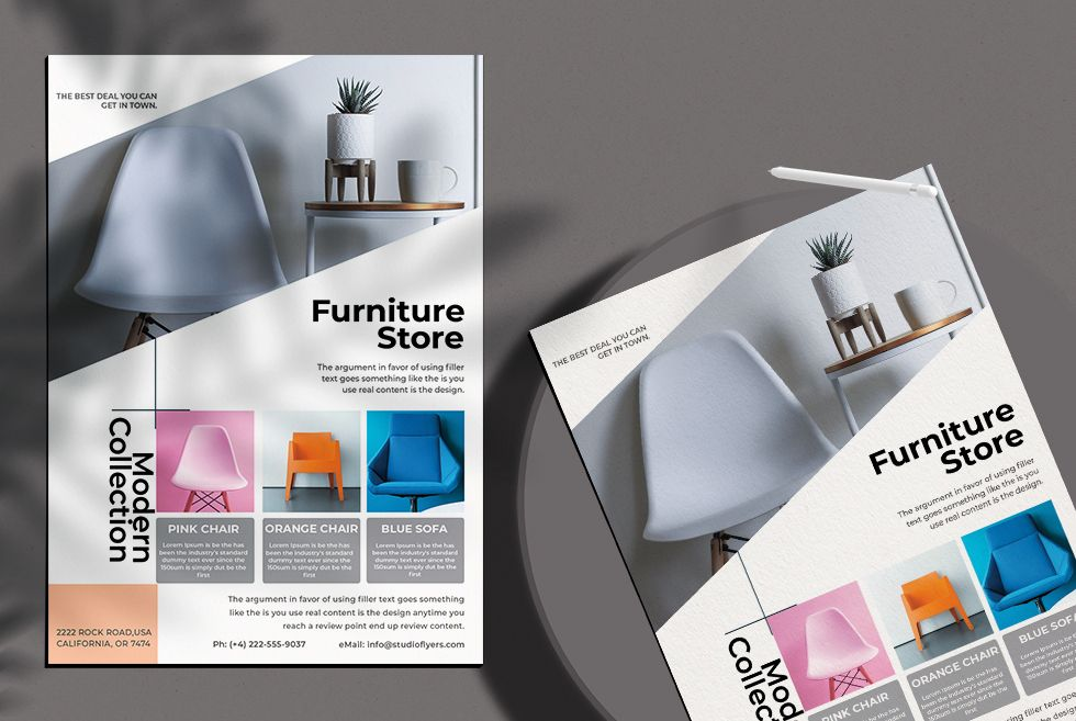 Furniture Shop Free Flyer Template (PSD)