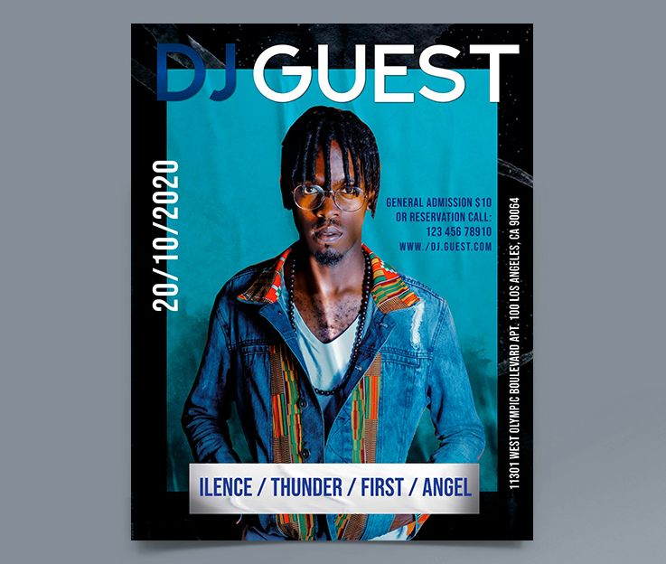 Guest DJ Party Free Flyer Template (PSD)