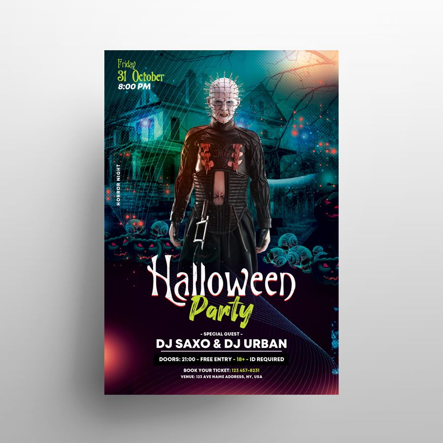 Halloween Horror Party Free Flyer Template (PSD)