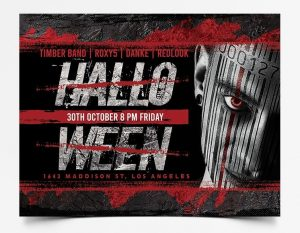 Halloween Scary Night Free Flyer Template (PSD)