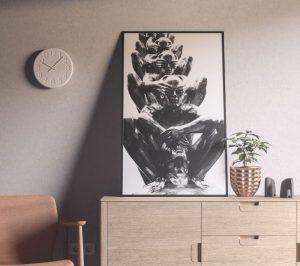 Interior Poster Frame Free Mockup (PSD)