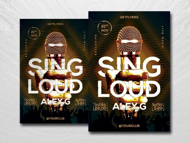 Karaoke Night Event Free Flyer Template (PSD)