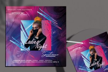 Ladies Event Party Free PSD Flyer Template