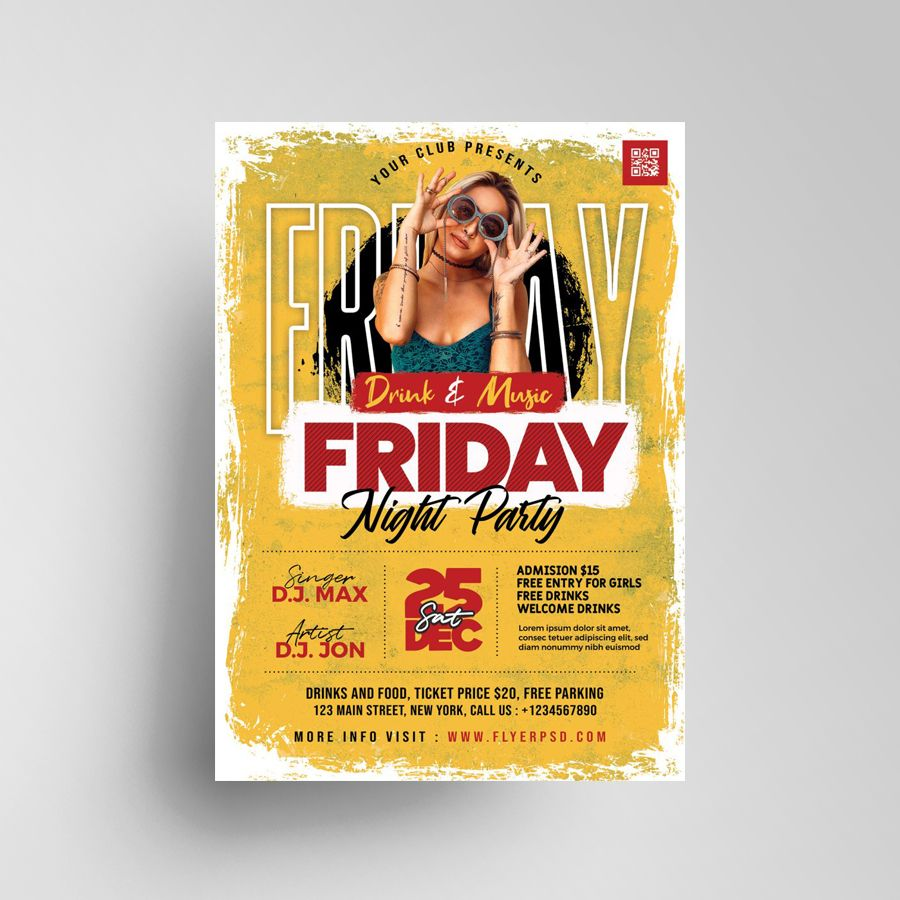 Ladies Friday Event Free Flyer Template (PSD)