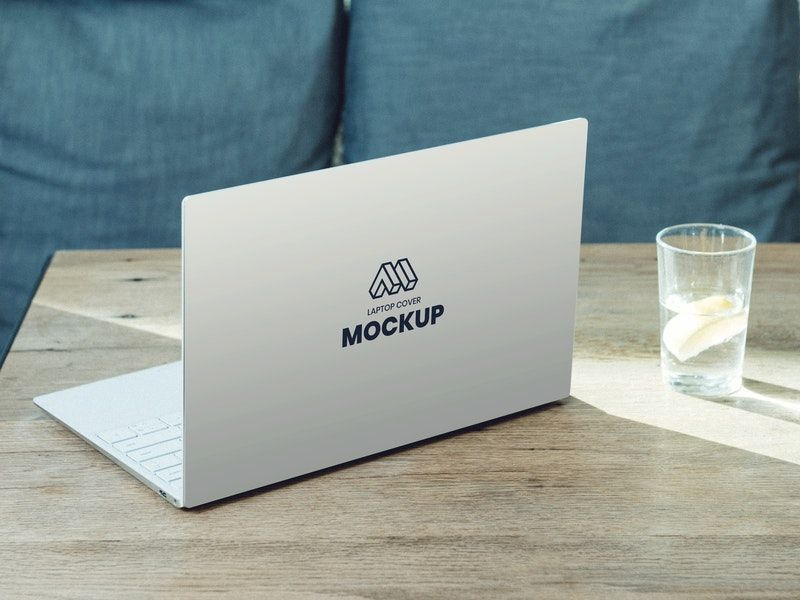 Laptop Back Cover Free Mockup