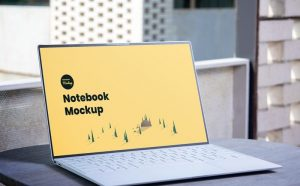 Minimal Laptop Notebook Free Mockup