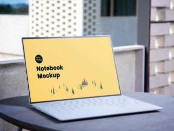 Minimal Laptop Notebook Free Mockup