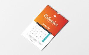 Minimalist Calendar Free Mockup