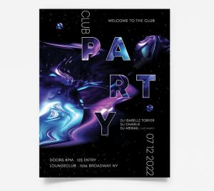 Night Party DJ Free PSD Flyer Template