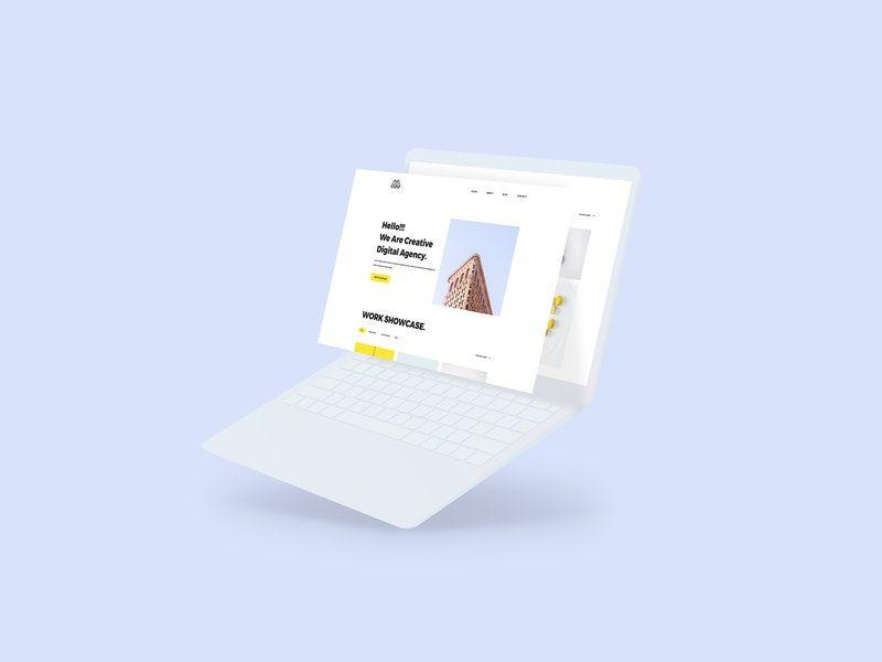 Notebook Laptop Screen Free Mockup