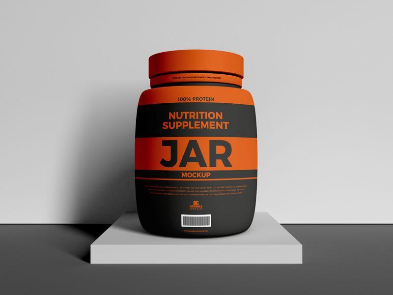 Nutrition Supplement Jar Free Mockup