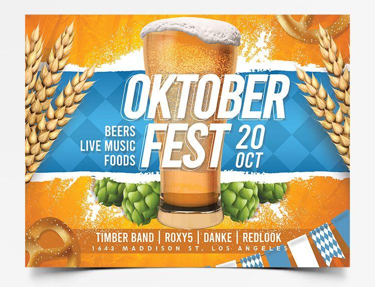 Oktoberfest 2020 Event Free PSD Flyer Template