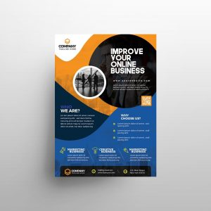 Online Business Ad Free Flyer Template (PSD)