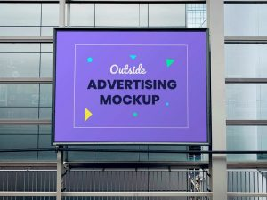 Outdoor Advertising Billboard Panel Free Mockup