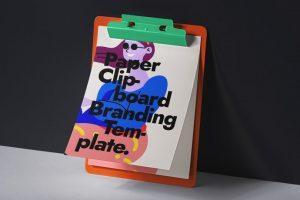 Paper Clipboard Free Mockup (PSD)