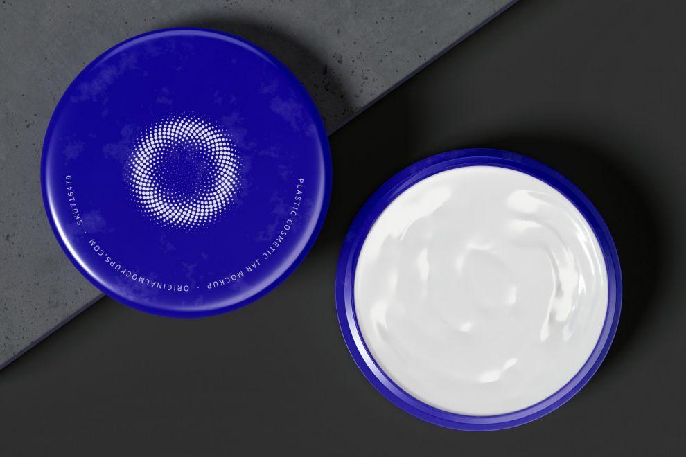 Plastic Cosmetic Jar Free Mockup