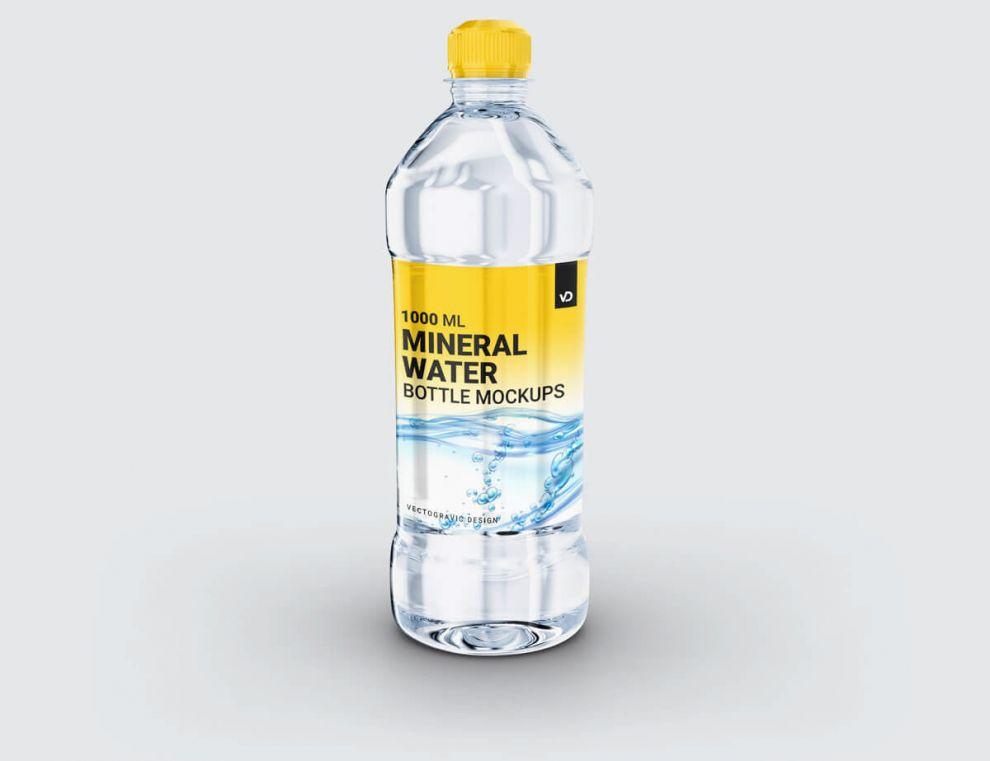 Plastic Mineral Water Bottle Free Mockup