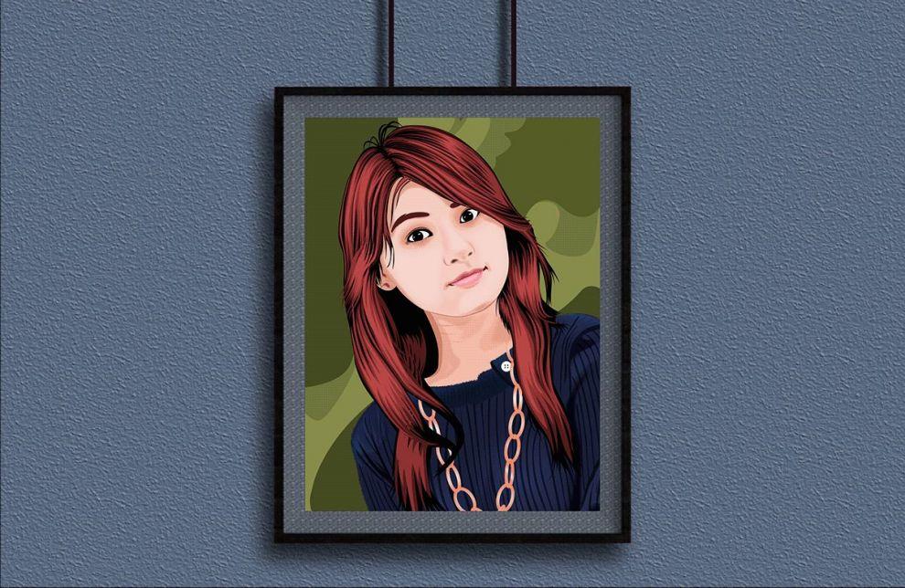 Poster Frame Free Mockup (Vertical & Landscape)