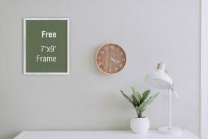 Poster Frame on Room Free Mockup