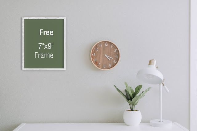 Poster Frame on Room Free Mockup