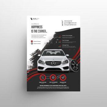 Rent a Car Business Free Flyer Template (PSD)