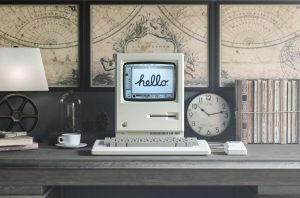 Retro Apple Macintosh PC Free Mockup