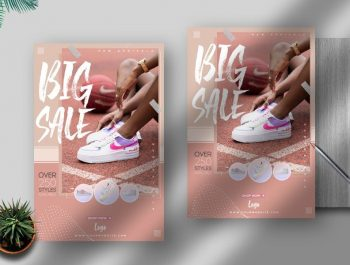 Shoes Sale Offer Free Flyer Template (PSD)