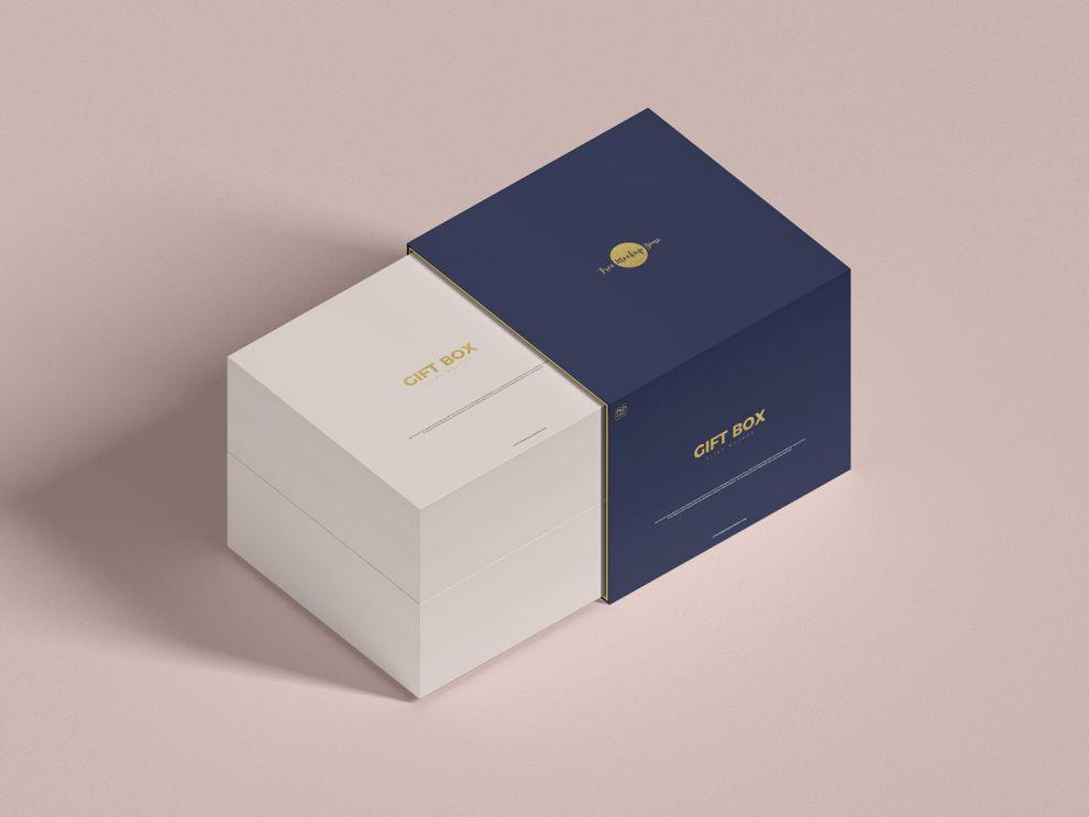 Simple Gift Box Free Mockup