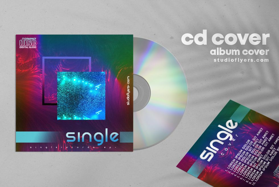 Single EDM Free Mixtape CD Cover Artwork Template (PSD)