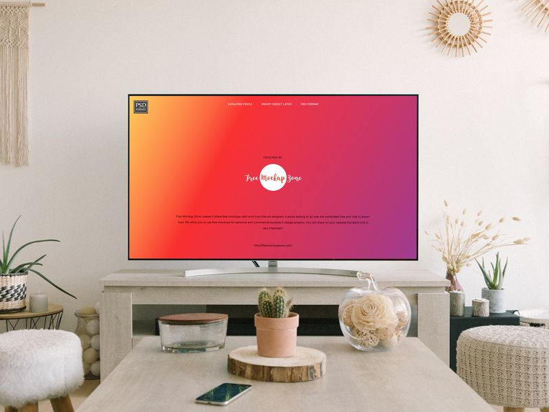 Smart TV Screen Free Mockup