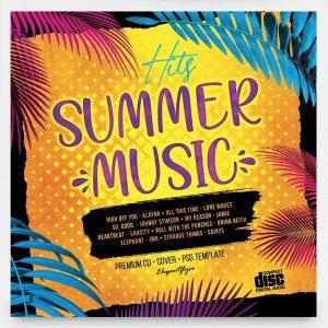 Summer Music Hits Free Mixtape CD Cover Artwork Template (PSD)