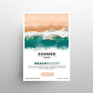 Summer Resort Ad Free Flyer Template (PSD)